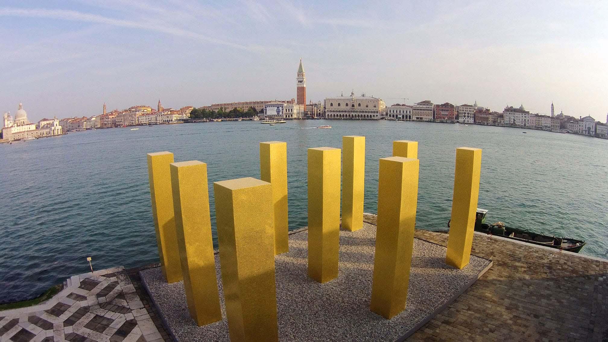 The Sky Over Nine Columns in Venice Italy