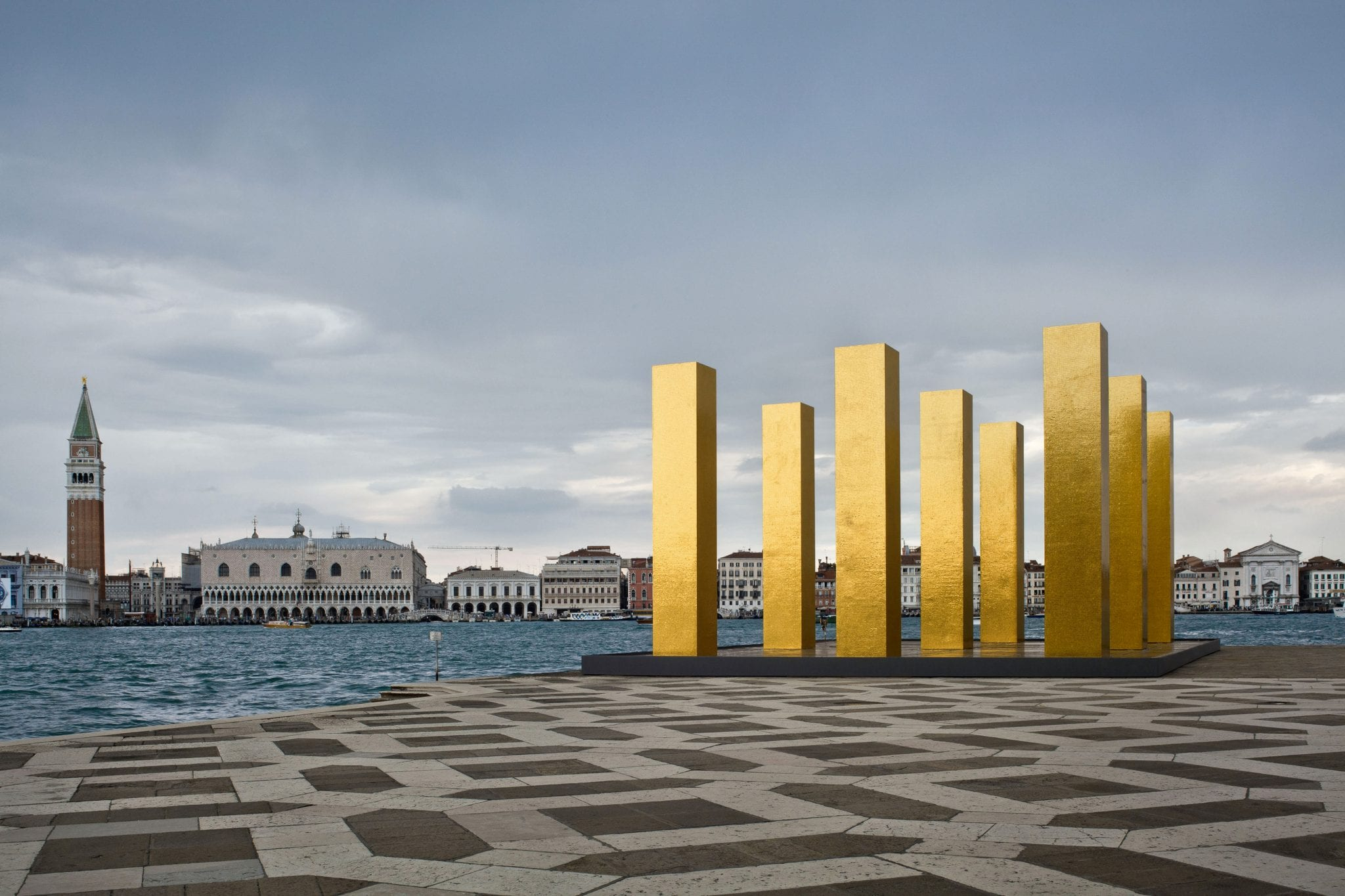 The Sky Over Nine Columns in Venice Italy
