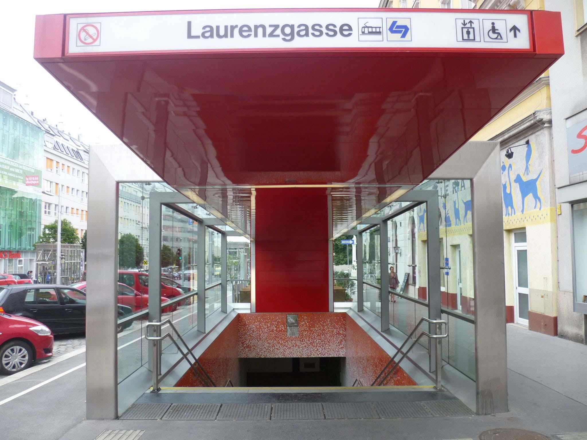 Laurenzgasse Station in Wien, Austria