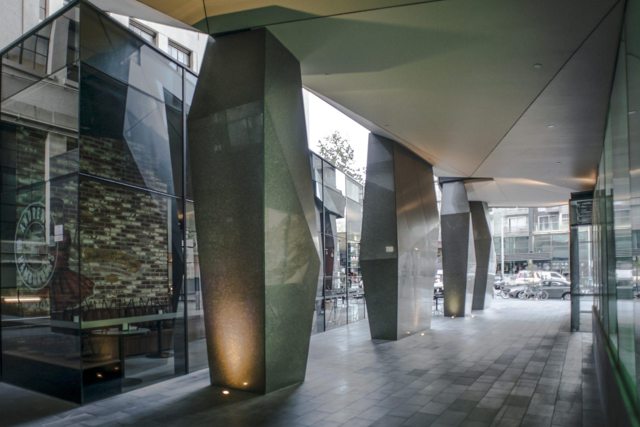 Terrazzo Columns in Melbourne, Australia