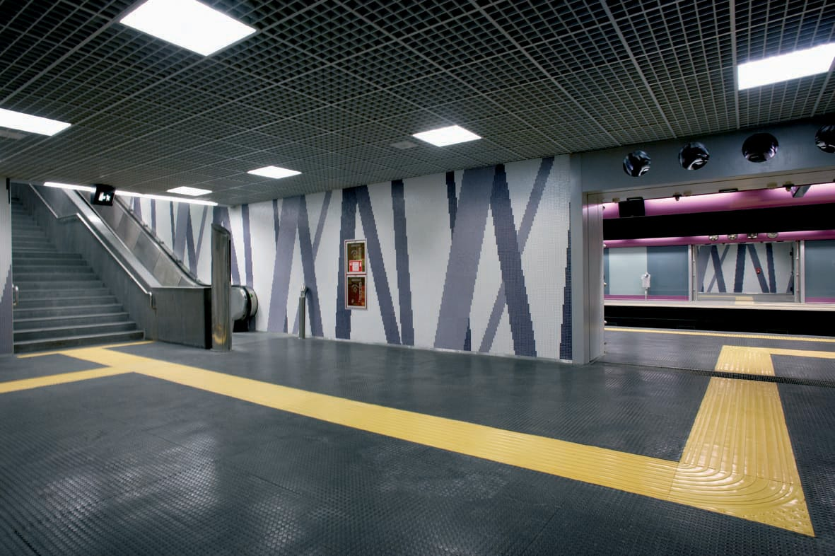 Metro Mugnano in Naples, Italy Slide
