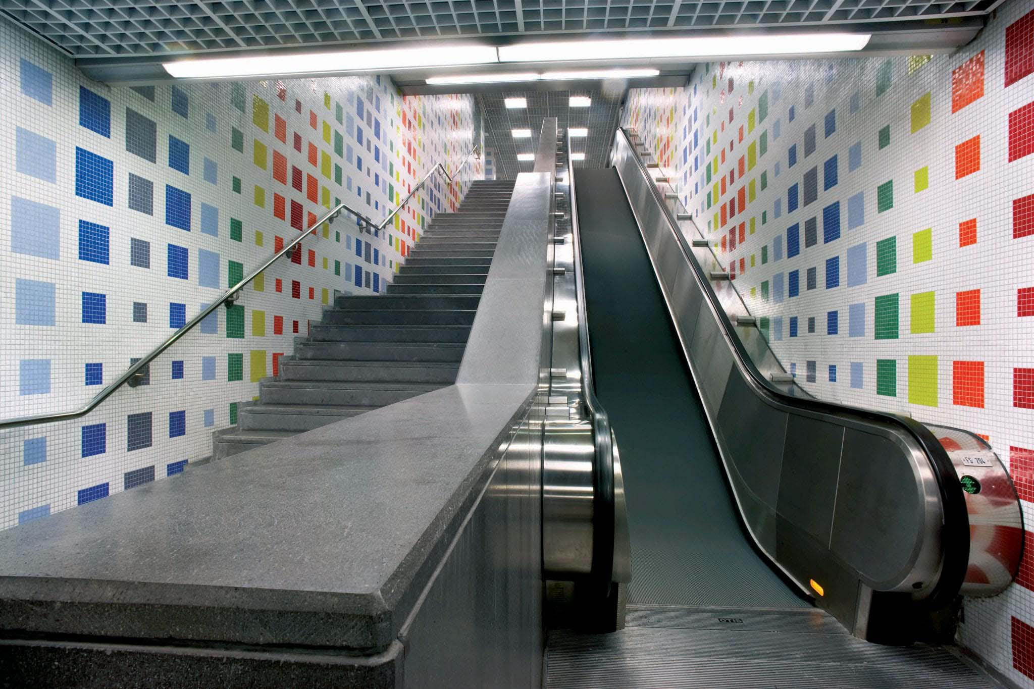 Metro Piscinola in Naples, Italy Slide