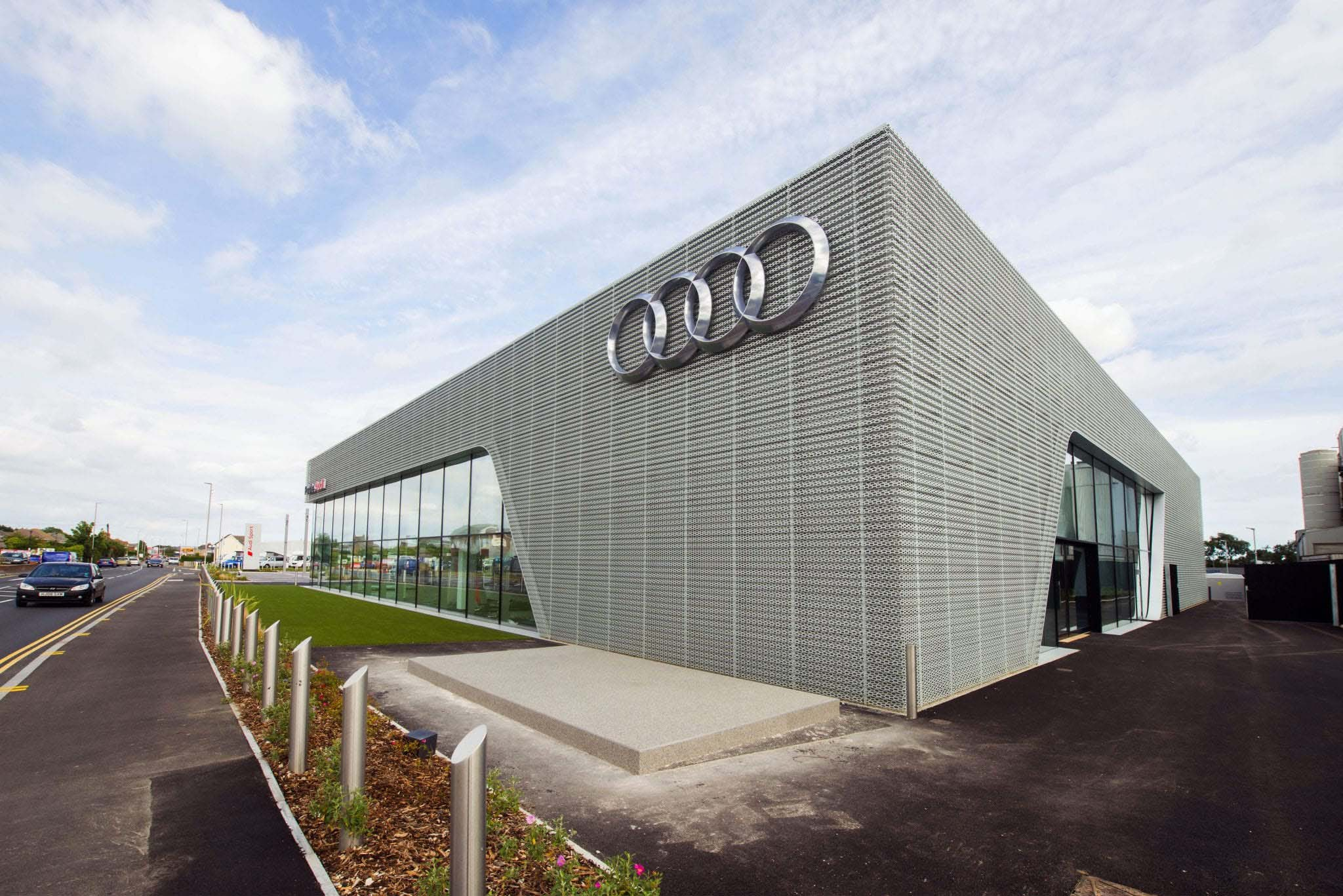 Poole Audi Center in Bornemouth, England Slide