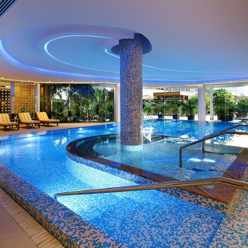 Indoor Pool at the Four Seasons Hotel in Limassol, Cyprus